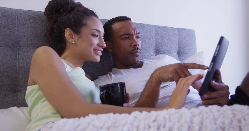 couple looking for a better bed