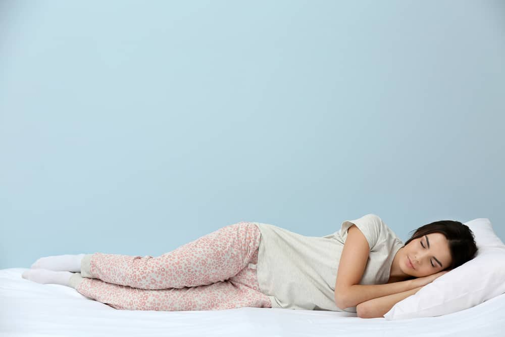 lady sleeping mattress firm