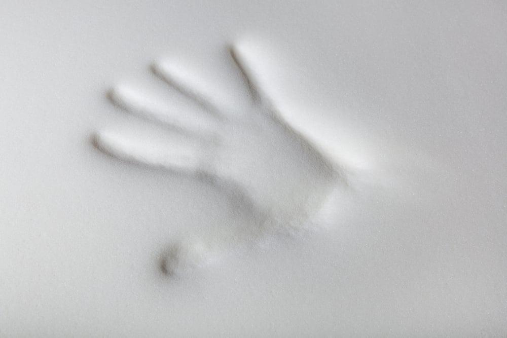 hand print memory foam