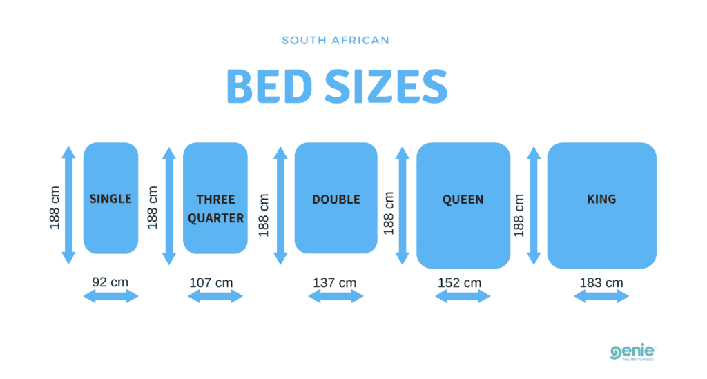 Bed Dimensions.Bed Sizes In South Africa Genie Beds